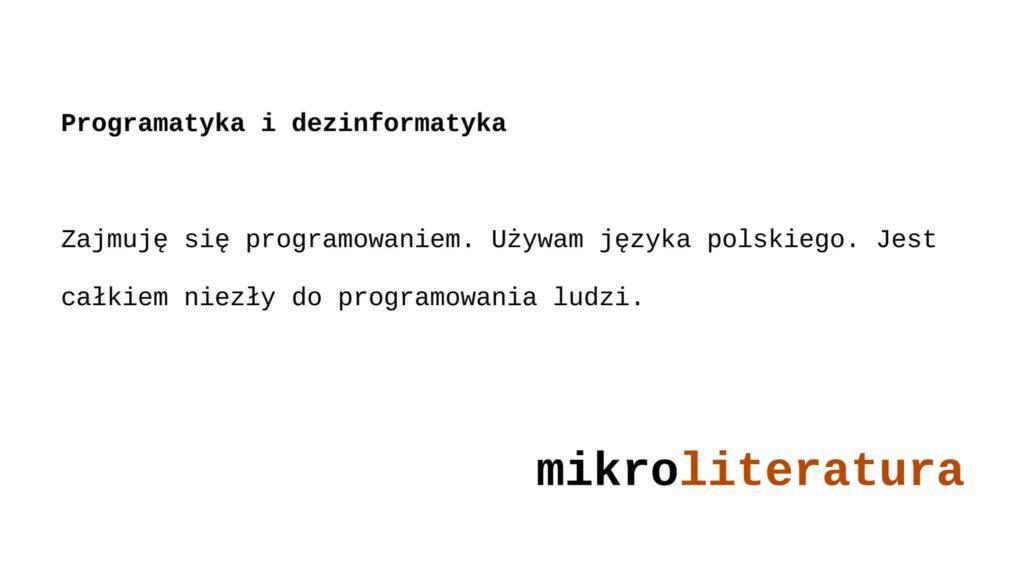 programatyka i dezinformatyka