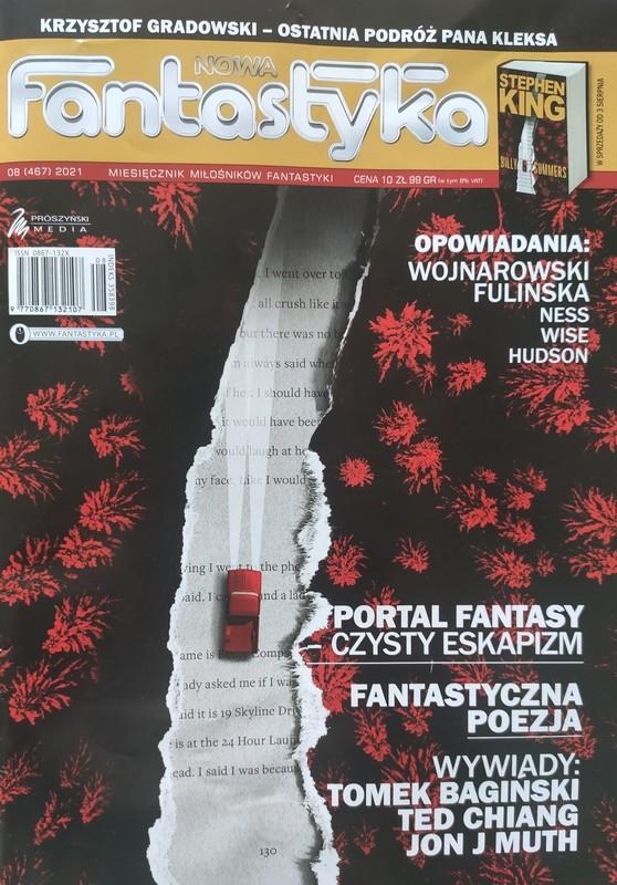 okładka czasopisma Nowa Fantastyka 08/2021